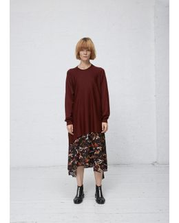 Dark Red Wrap Around Sweater