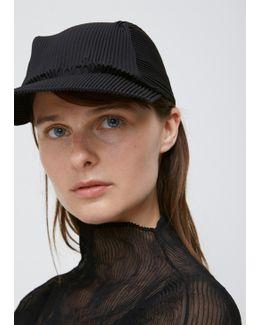 Black Pleats Cap