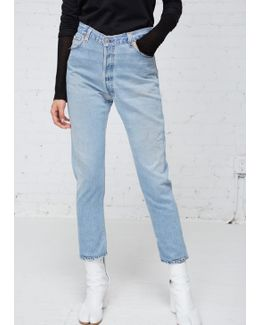 Light High Rise Ankle Crop