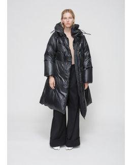 Black Shiny Nylon Coat
