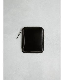 Black / Silver Mirror Inside Wallet