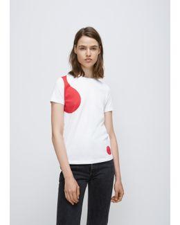 White/red Bubble Theme Ss Tee