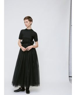Black Sheer Ruffle Skirt