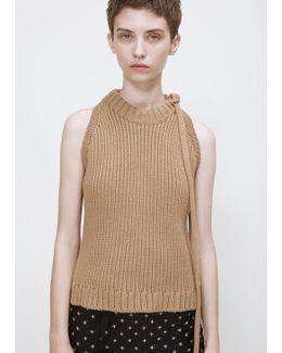 Fawn Tie Neck Halter Knit