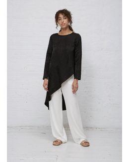 Black Jacquard Long Sleeve Heli Tunic