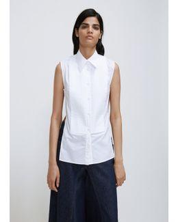 White Parachute Poplin Vest