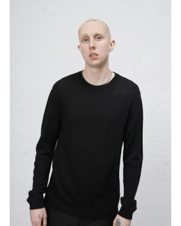 Black Light Wool Crew Neck Sweater