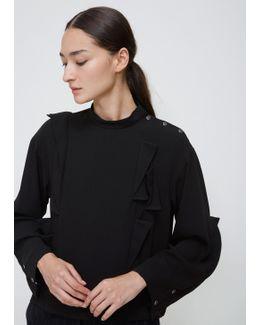 Black Georgette Satin Shirt