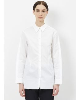 White Inside Out Button Down