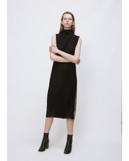 Black/snake High Neck Tunic Dress