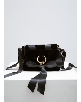 Black Velvet Mini Pierce Bag