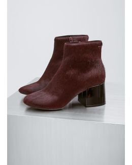 Bordeaux Bovine Leather Ankle Boot