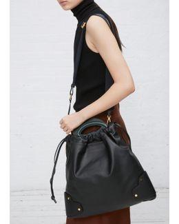Black / Dark Sea Green Handbag
