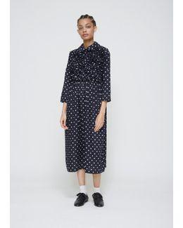 Navy / White Polka Dot Dress