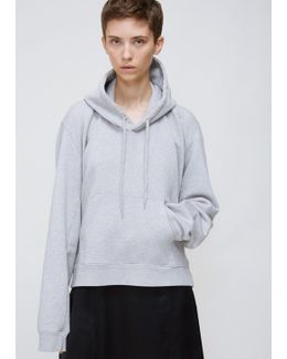 Grey Misplaced Hoodie With Pocket