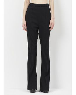 Black Seamed Pull On Trouser