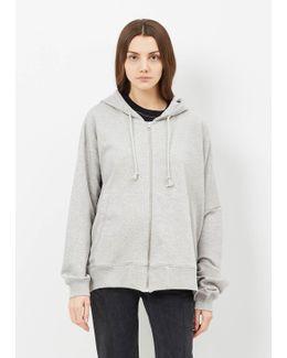 Grey Melange Sweat Jacket