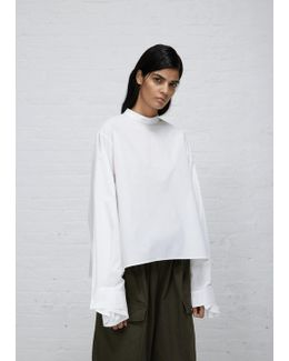 White Parachute Poplin Top