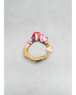 Gold / Pink Aggy Bracelet