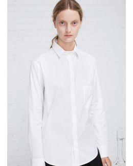 White Fly Front Shirt