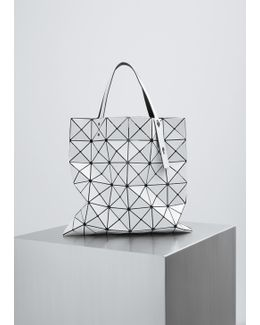White Lucent Shiny Small Tote