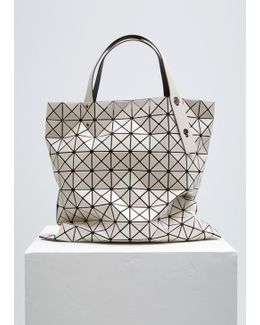 Beige Prism Shiny Large Tote