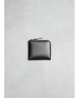 Very Black Half Zip Wallet