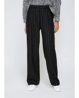 Black Stripe Ridge Trouser