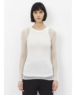 Creme Open Knit Cashmere Sweater