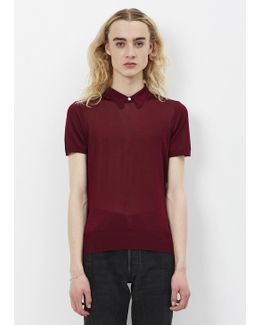 Dark Red Bright Knit Top