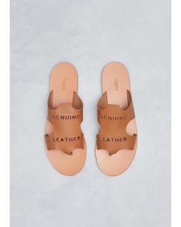 Tan Leather Raw Cut Sandal