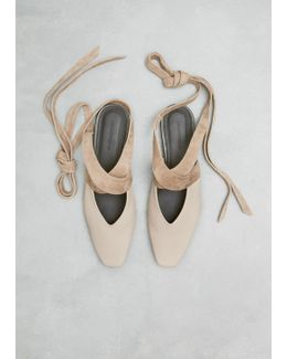 Flax Open Flat Ballerina