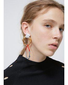 Gold / Red / Grey Alin Earring