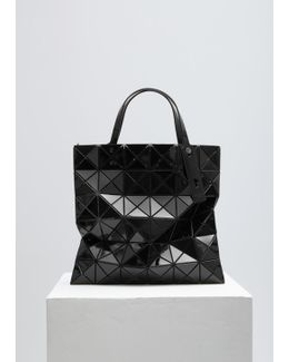 Black Lucent Shiny Small Tote