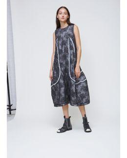Black Sleeveless Lace Overlay Dress