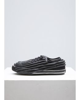 Black Painted Rubber Sneaker