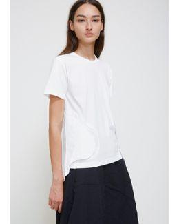 White Short Sleeve Waist Detail Tee