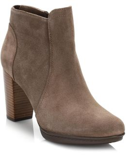 Womens Mink Brown 8b Ankle Boots