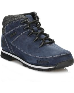 Mens Navy Euro Sprint Hiker Boots