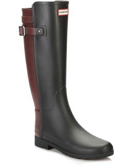 Original Womens Black/dulse Refined Back Strap Wellington Boots