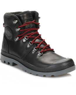 Mens Black/red/castle Brick Pallabrouse Hiker Boots
