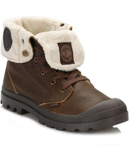 Womens Brown Baggy Leather Fs Boots