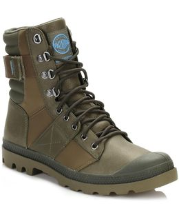 Womens Army Green/dark Olive Nue Tactic Wp Boots