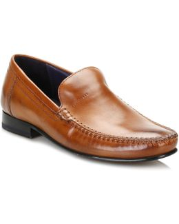 Mens Tan Simeen 3 Leather Shoes