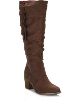Womens Brown Day Tall Boots