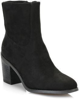 Womens Black Dannis Ankle Boots
