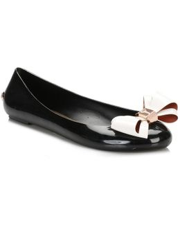 Womens Black/cream Julivia Ballerina Flats