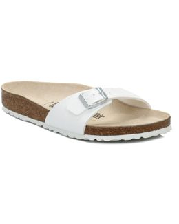 Womens Madrid White Birko Flor Sandals