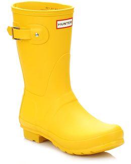 Original Womens Yellow Short Wellington Boots