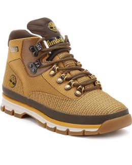 Mens Wheat Euro Hiker Jacquard Boots